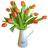 Cafetera con Tulipanes