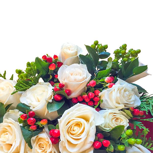 Rosas Blancas con Glamour- Enviar Flores a domicilio - floresfrescas.com