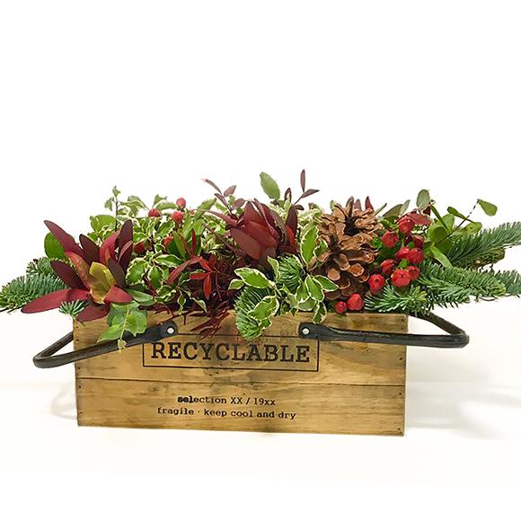 Comprar decoraci n navidad caja con flores navidad for Plantas decorativas amazon