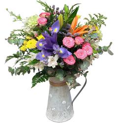 Flores Variadas en Jarra