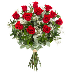Ramo 12 Rosas Lujo